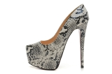 CL 16 cm gray serpentine for women\'s shoes AAA