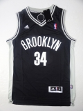 Brooklyn Nets #34 black