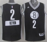 Brooklyn Nets #2 Kevin Garnett Black 2014-15 Christmas Day Stitched NBA Jersey