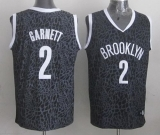 Brooklyn Nets #2 Kevin Garnett Black Crazy Light Stitched NBA Jersey