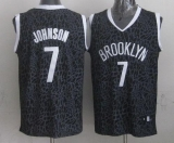 Brooklyn Nets #7 Joe Johnson Black Crazy Light Stitched NBA Jersey