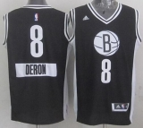 Brooklyn Nets #8 Deron Williams Black 2014-15 Christmas Day Stitched NBA Jersey