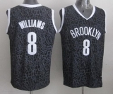 Brooklyn Nets #8 Deron Williams Black Crazy Light Stitched NBA Jersey
