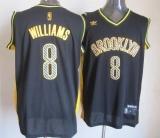 Brooklyn Nets #8 Deron Williams Black Electricity Fashion Stitched NBA Jersey