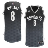 Brooklyn Nets #8 Deron Williams Black Resonate Fashion Swingman Stitched NBA Jersey