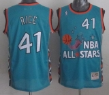 Mitchell And Ness Charlotte Hornets #41 Glen Rice Light Blue 1996 All Star Stitched NBA Jersey