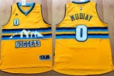 Denver Nuggets #0 Emmanuel Mudiay Yellow Alternate Stitched NBA Jersey