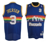Denver Nuggets #3 Allen Iverson Light Blue Throwback Stitched NBA Jersey