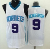 Revolution 30 Charlotte Hornets #9 Gerald Henderson White Stitched NBA Jersey
