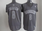 Brooklyn Nets #8 Deron Williams Grey Big Color Fashion Stitched NBA Jersey