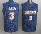 Denver Nuggets #3 Ty Lawson Dark Blue Crazy Light Stitched NBA Jersey