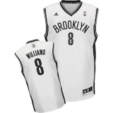 Brooklyn Nets #8 Deron Williams White Home Revolution 30 Stitched NBA Jersey