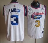 Denver Nuggets #3 Ty Lawson White Hardwood Classic Stitched NBA Jersey