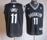 Brooklyn Nets #11 Brook Lopez Black Road Stitched NBA Jersey