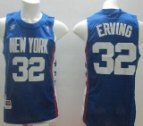 Brooklyn Nets #32 Julius Erving Blue ABA Retro Swingman Throwback Stitched NBA Jersey