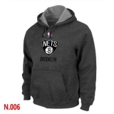 NBA Brooklyn Nets Pullover Hoodie Dark Grey