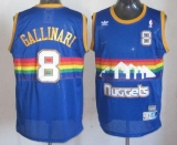 Denver Nuggets #8 Danilo Gallinari Light Blue Throwback Stitched NBA Jersey