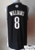 Revolution 30 Autographed Brooklyn Nets #8 Deron Williams Black Stitched NBA Jersey