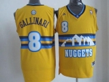 Denver Nuggets #8 Danilo Gallinari Yellow Alternate Stitched NBA Jersey
