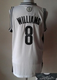 Revolution 30 Autographed Brooklyn Nets #8 Deron Williams White Stitched NBA Jersey