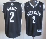 Revolution 30 Brooklyn Nets #2 Kevin Garnett Black Road Stitched NBA Jersey