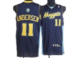 Denver Nuggets #11 Chris Andersen Stitched Dark Blue NBA Jersey