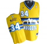 Denver Nuggets #34 JaVale McGee Yellow Alternate Stitched NBA Jersey