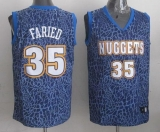 Denver Nuggets #35 Kenneth Faried Dark Blue Crazy Light Stitched NBA Jersey