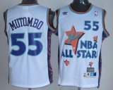 Denver Nuggets #55 Dikembe Mutombo White 1995 All Star Throwback Stitched NBA Jersey