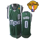 Dallas Mavericks 2011 Finals Patch #0 Shawn Marion Revolution 30 Green Stitched NBA Jersey