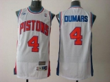 Detroit Pistons #4 Joe Dumars White Throwback Stitched NBA Jersey