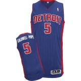 Detroit Pistons #5 Kentavious Caldwell-Pope Blue Stitched NBA Jersey