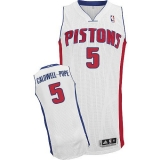 Detroit Pistons #5 Kentavious Caldwell-Pope White Stitched NBA Jersey