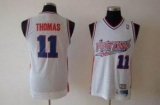 Detroit Pistons #11 Isiah Thomas White Swingman Throwback Stitched NBA Jersey
