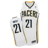 Indiana Pacers #21 David West White Home Stitched NBA Jersey
