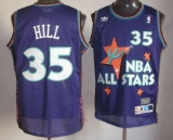 Detroit Pistons #35 Grant Hill Purple 1995 All Star Throwback Stitched NBA Jersey