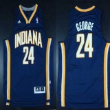 Indiana Pacers #24 Paul George Navy Blue Road Stitched NBA Jersey
