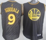 Golden State Warriors #9 Andre Iguodala Black Precious Metals Fashion Stitched NBA Jersey