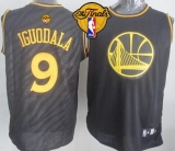 Golden State Warriors #9 Andre Iguodala Black Precious Metals Fashion The Finals Patch Stitched NBA Jersey