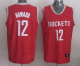 Houston Rockets #12 Dwight Howard Red Crazy Light Stitched NBA Jersey