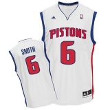 Revolution 30 Detroit Pistons #6 Josh Smith White Stitched NBA Jersey