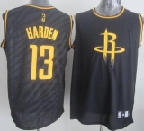 Houston Rockets #13 James Harden Black Precious Metals Fashion Stitched NBA Jersey