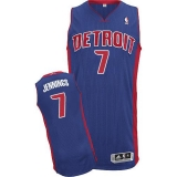 Revolution 30 Detroit Pistons #7 Brandon Jennings Blue Stitched NBA Jersey