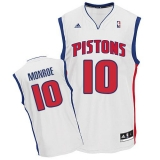 Revolution 30 Detroit Pistons #10 Greg Monroe White Stitched NBA Jersey