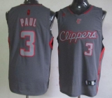 Los Angeles Clippers #3 Chris Paul Grey Graystone Fashion Stitched NBA Jersey