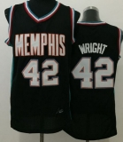 Memphis Grizzlies #42 Lorenzen Wright Black Throwback Stitched NBA Jersey