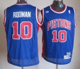 Throwback Detroit Pistons #10 Richard Rodman Blue Stitched NBA Jersey