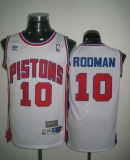 Throwback Detroit Pistons #10 Richard Rodman White Stitched NBA Jersey