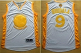 Golden State Warriors #9 Andre Iguodala White Gold No Stitched NBA Jersey