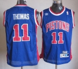 Throwback Detroit Pistons #11 Thomas Blue Stitched NBA Jersey